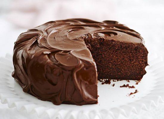 Torta de chocolate cubierta de Artenut