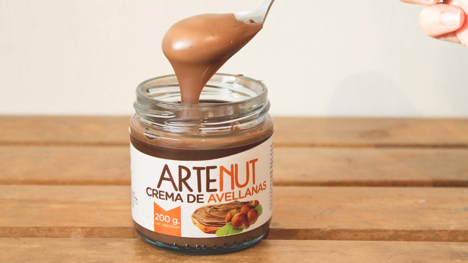 Envase de Crema de Avellanas Artenut