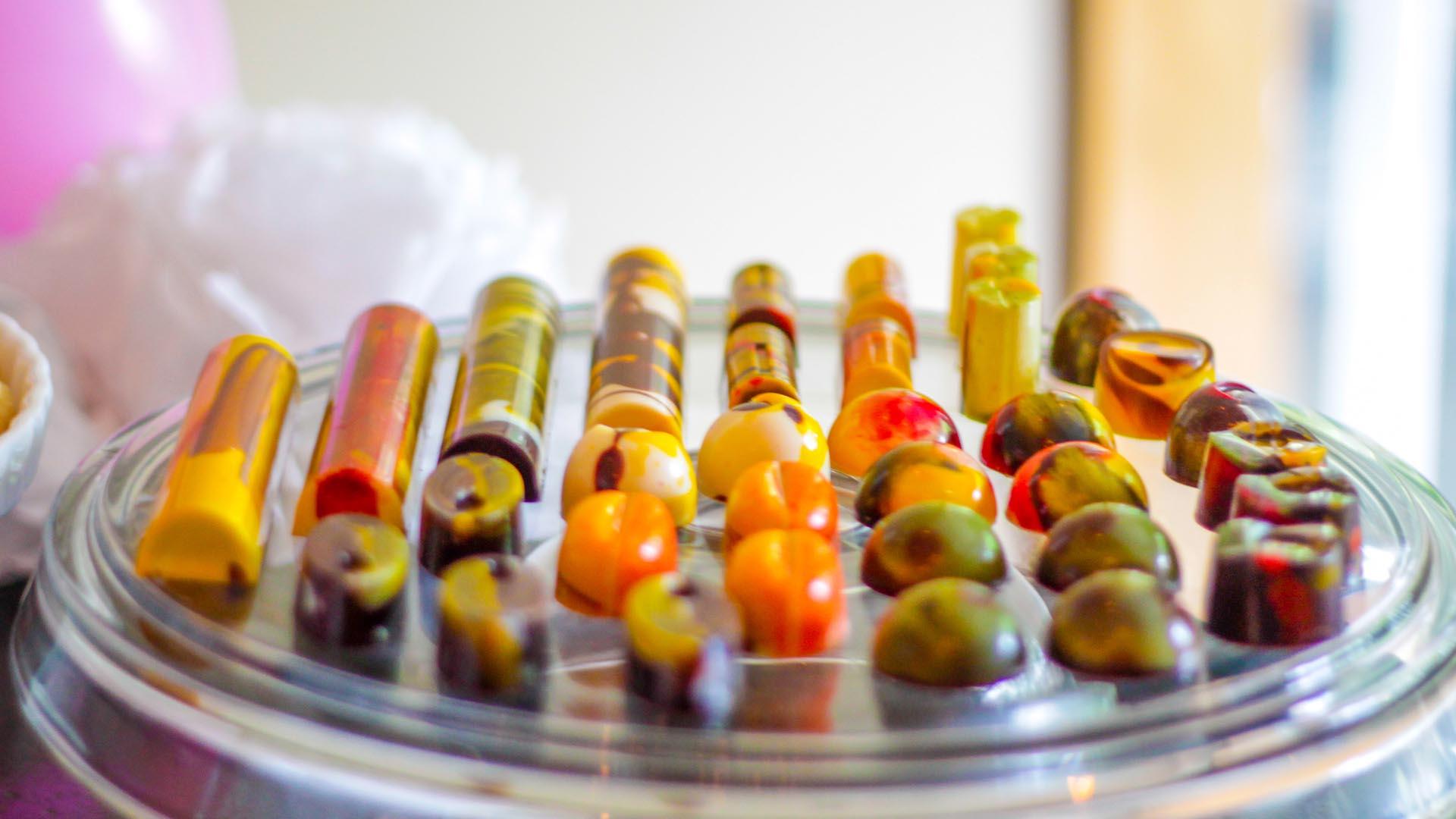 Bandeja de bombones de chocolate de Artekao